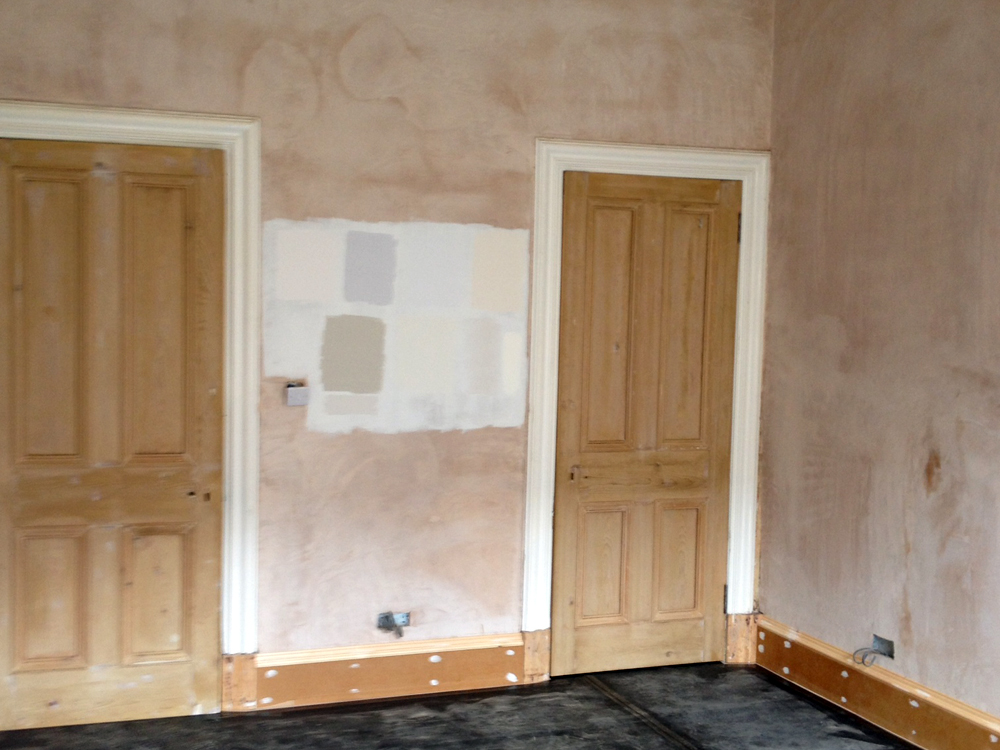 Plastered and prepped for decorating.