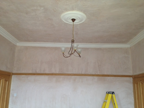 cornice, windows and ceiling repair.