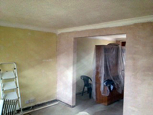 Plastering & decorating.